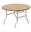 "Round Wood Size: 60"" Seats 8 to 10"